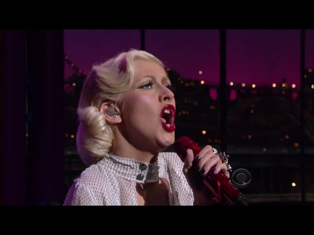 Christina Aguilera - You Lost Me (Live on David Letterman 06.09.10) HD