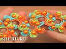 Crochet Lace With Beads Tutorial 19 часть 1 из 2 Ленточные кружева
