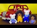 Ёжики Сильваниан  в гостях у мышек - мультики для детей Носики Курносики