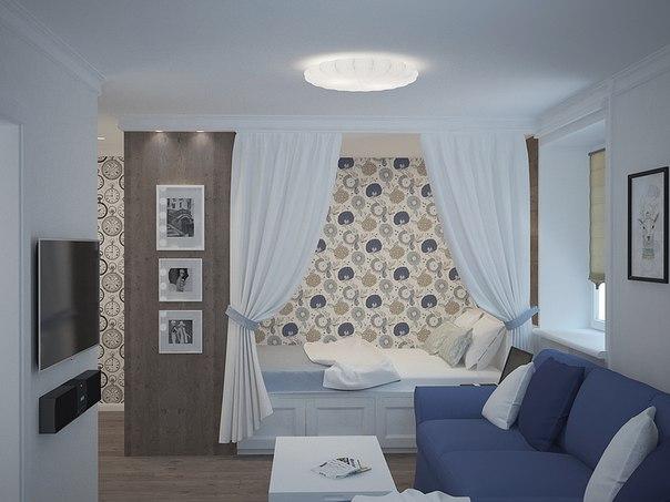 Спальня 30 кв м фото