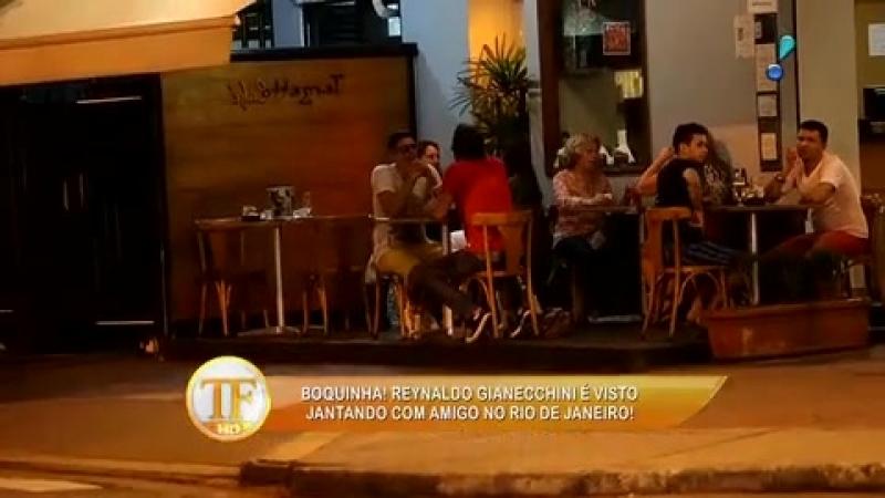 Reynaldo Giannechini é flagrado em lanchonete com amigo