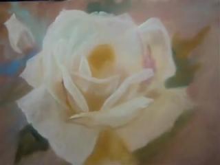 Как нарисовать белую розу. Silvio Zatti. COMO PINTAR UMA ROSA BRANCA