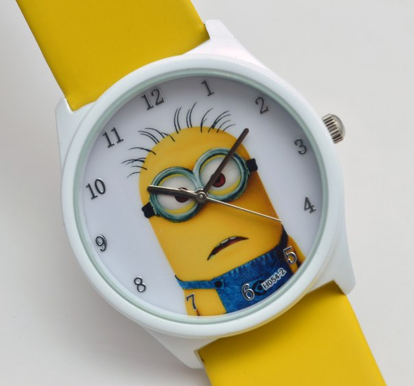 Наручные кварцевые часы с миньонами по самой привлекательной цене.