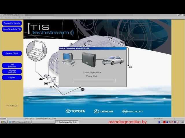 TOYOTA TECHSTREAM - Программа для диагностики автомобилей TOYOTA, LEXUS, SCION.