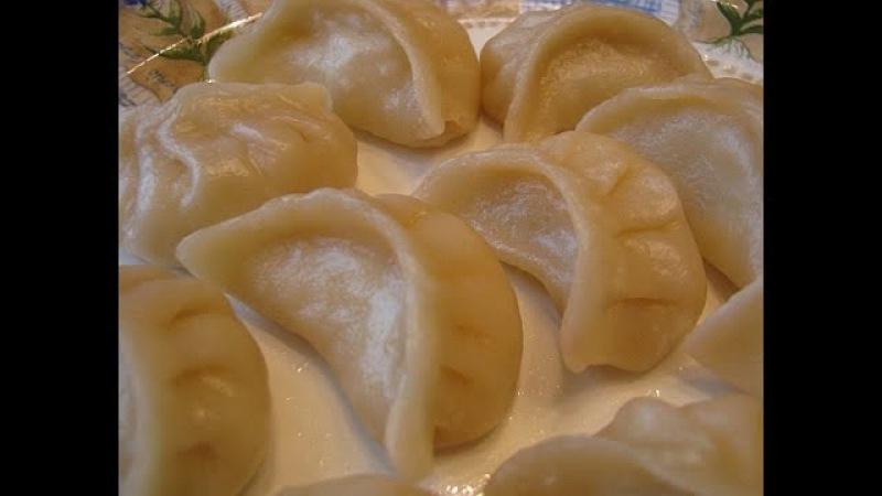 Вареники с сырой картошкой (постные)