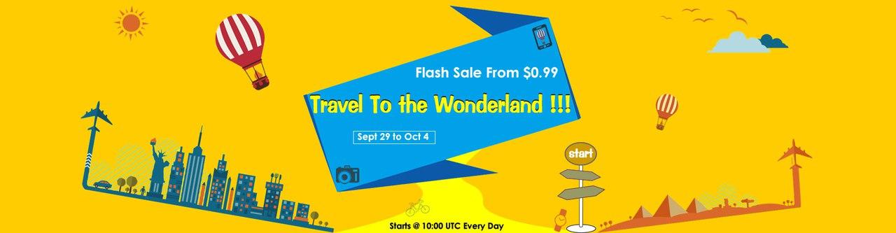 GearBest: Флешраспродажа ко всемирному дню туризма!!!