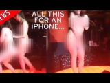 SHOCKED- Women Strip NAKED To Win Old iPhone in Nightclub [VIDEO]!
