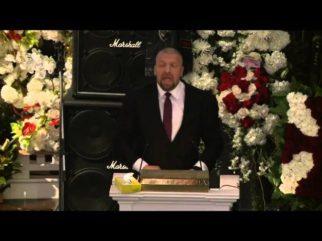 Triple H's speech at Lemmy Kilmister's funeral [9/1/16]