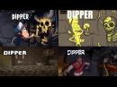 Гравити Фолз, заставка в разных анимациях.