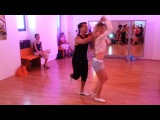 Oliver Pineda &amp Kate Gutnichenko - Salsa Partnerwork on 2 @ Mi Manera dance studio - Vienna -