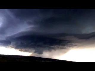 Тайм-лапс гигантской суперячейки в Black Hawk, South Dakota