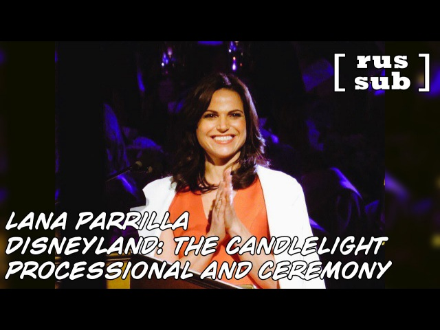 Lana Parrilla The Candlelight Processional and Ceremony at Disneyland