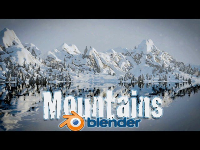 Blender Tutorial! Create Snowy Mountain Landscape - Blender Cycles!