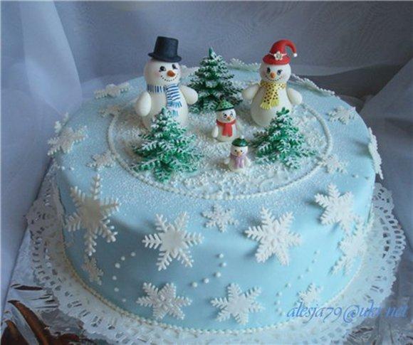Новогодний торт своими руками с фото
