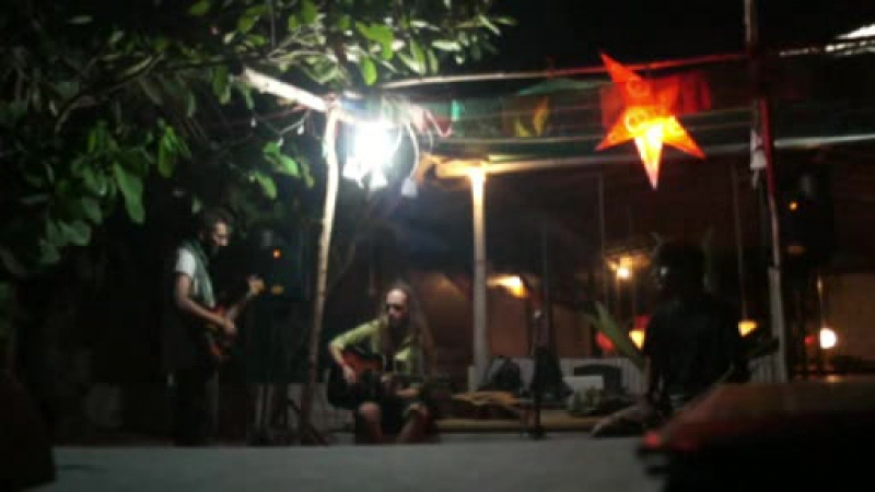 Goa arambol beach mama cafe Степан Барда, Bhabesh Kakkar, Anuj Tawar jam1