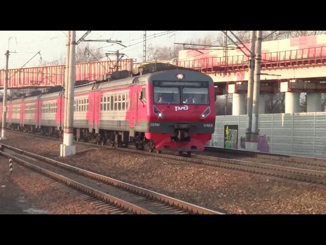 Остановка на красный ЭД4М-0469ЭД4МКМ-0003 Аэроэкспресс HD, Train574