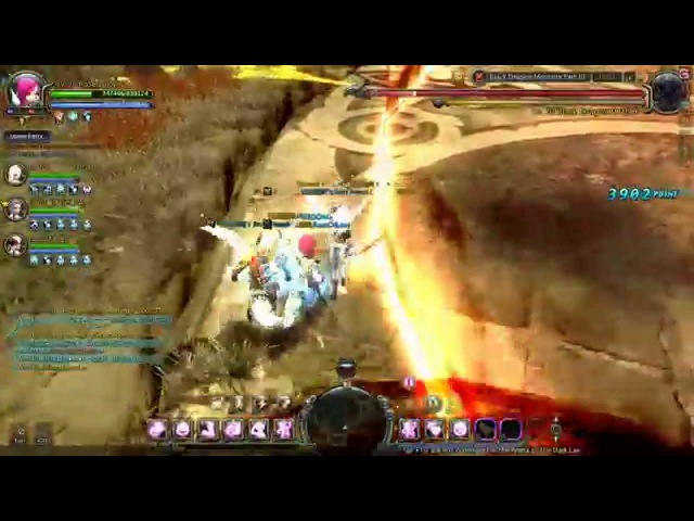 Dragon Nest lvl 70 Elestra Ice Witch in Black Dragon Nest Memorial Part 3