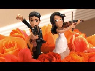 Как сделать прикольные фигурки музыкантов на свадебный торт