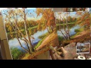 Октябрьский день. Мастер-класс на двух холстах. Autumn. Master class on two canvases by Oleg Buiko