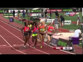 Women's 800m Final USATF Outdoor Championships Eugene 2015
