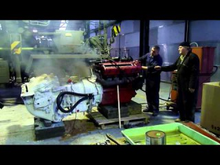 Testing a Ford GAF V8 engine coming from a M26 Pershing tank