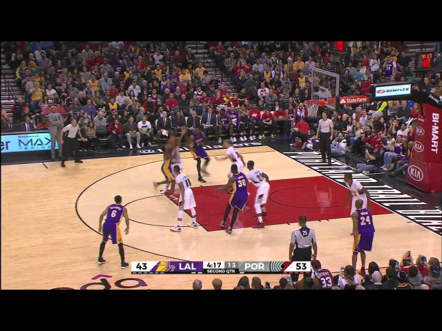 Portland trail blazers vs los angeles lakers recap nba 2016 Highlights