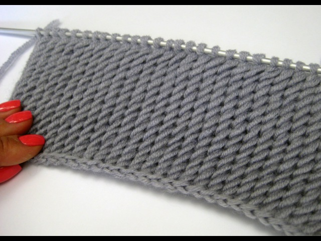 Diagonal Stitch_Узор Косые петли