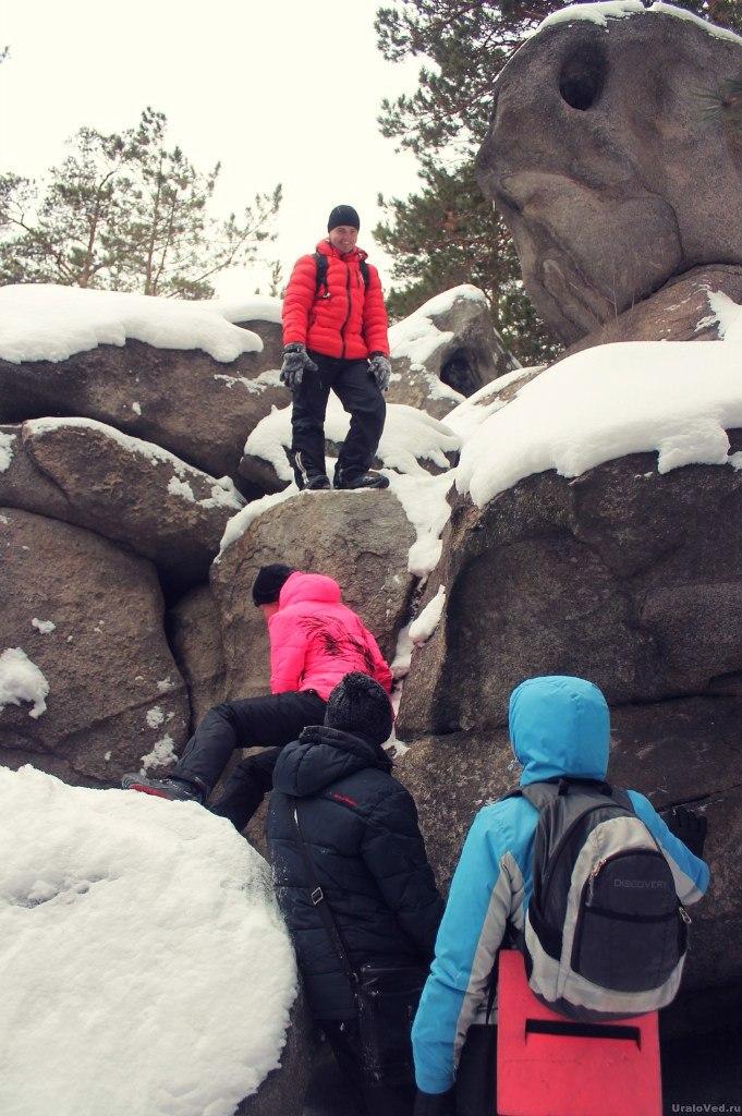 Подъем на скалы
