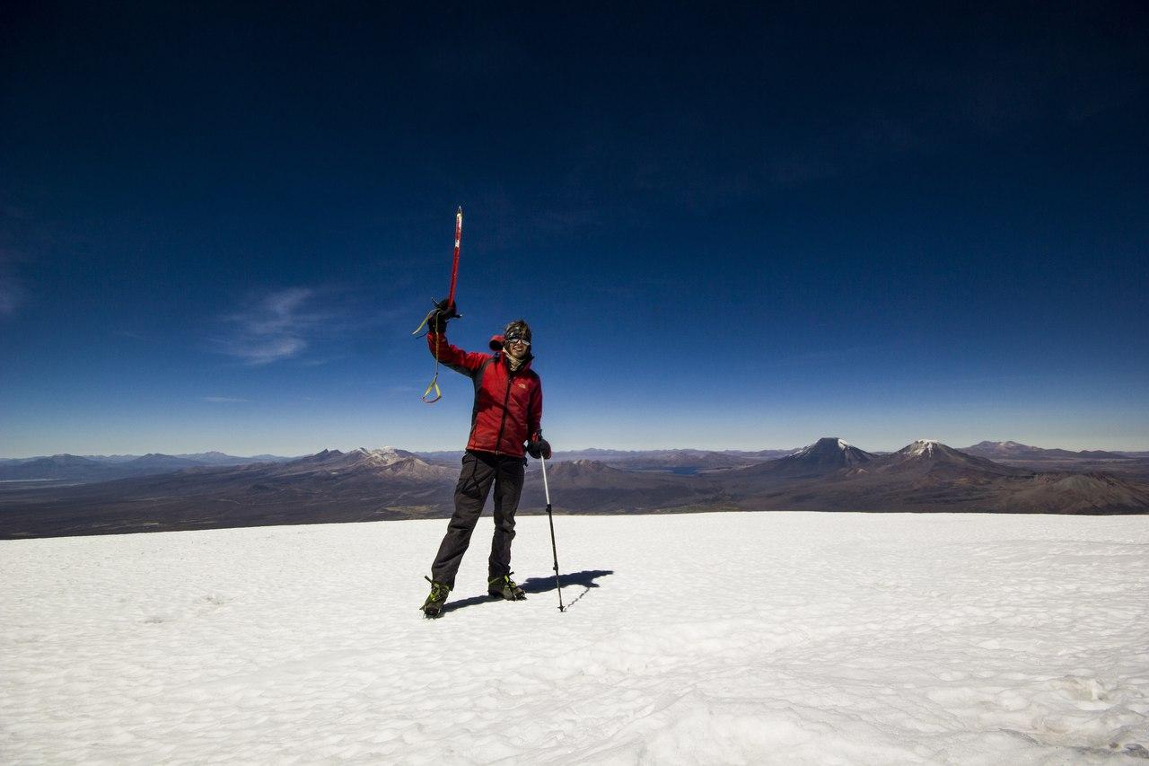 Вершина вулкана Сахама в Боливии