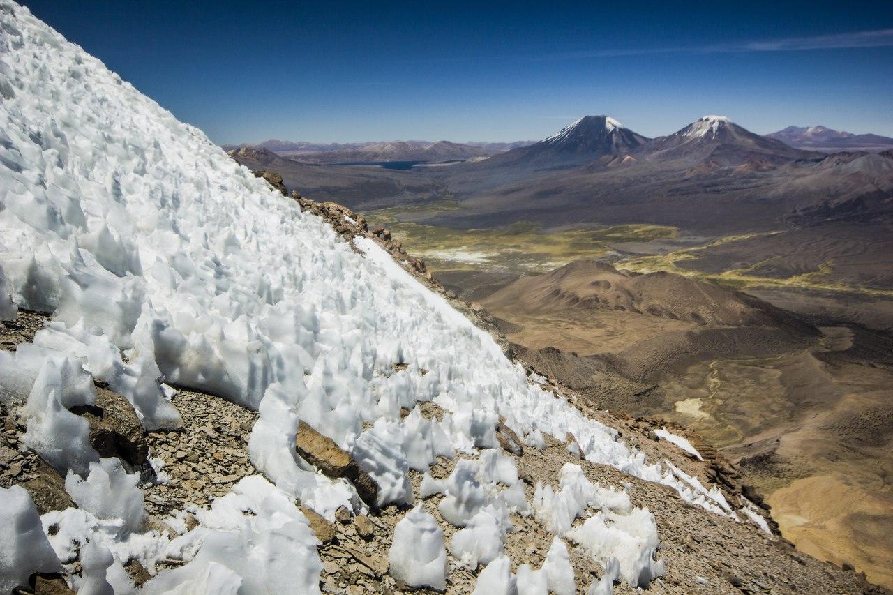 Кальгоспоры на Сахаме в Боливии