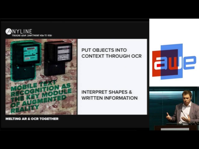 Lukas Kinigadner (Co-founder, Anyline) - Mobile text recognition for Industrial AR at AWE 2015