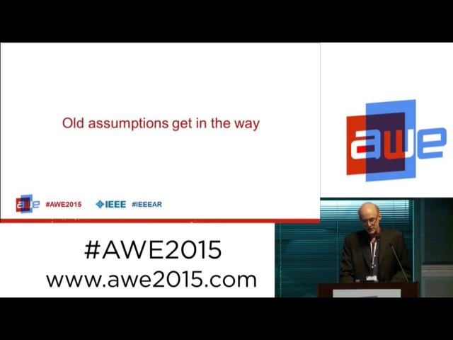 Jay Iorio (Director of Innovation, IEEE) - The artist and the wired habitat at AWE 2015