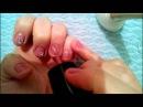 маникюр рисунок на ногтях лаком с помощью иголки для начинающих видео урок