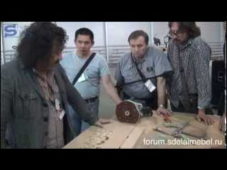Фрезерование 3D орнамента по шаблону. Мастер-класс. Фестиваль столярного дела.