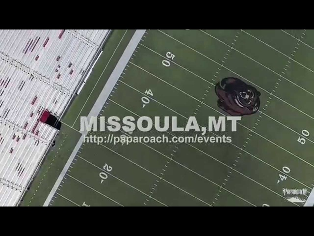 Papa Roach drone footage in Missoula Montana at Adams Center