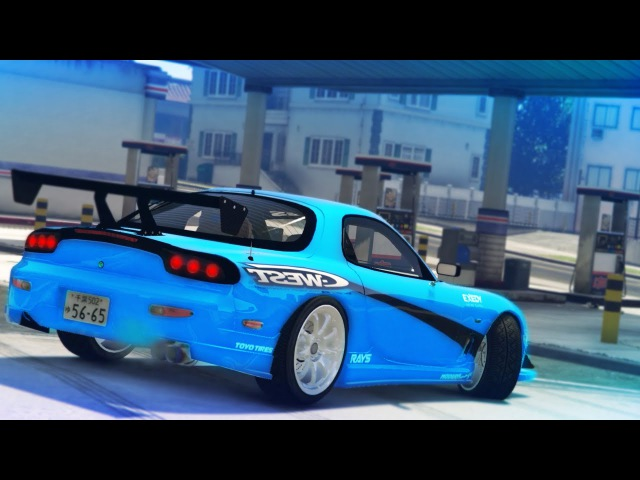 GTA 5 MAZDA RX7 DRIFT MONTAGE Drifting To The Gas Station
