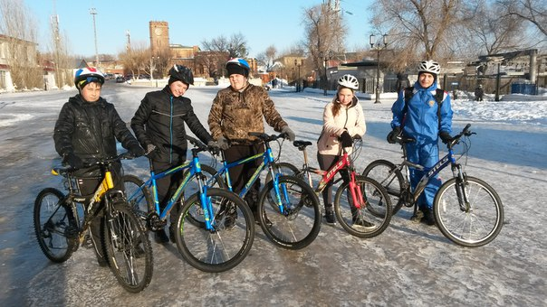 Велосекция-МТВ в городе Оренбурге. Зимние тренировки.