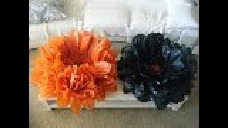 DIY GIANT BEST Flower tissue decoration tutorial