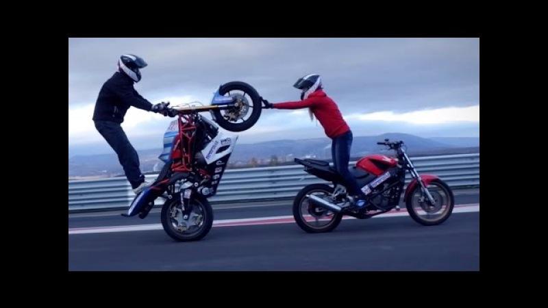 Motorcycle stunts Martin Kate 2015