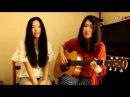 Песня на китайском! Девушки с гитарой очень красиво поют!