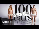 100 Years of Fashion Gals vs. Guys