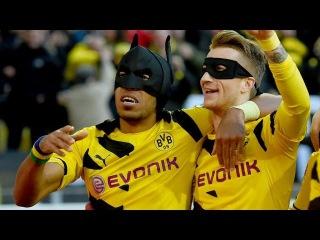 Обамеянг и Ройс отпраздновали гол, надев маски Бэтмена и Робина