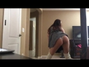 Молоденькая студентка танцует и показывае попку в трусиках, Teen student dancing and showing ass in panties