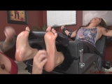 Kat Go crazy with tickle, my big feet and wet