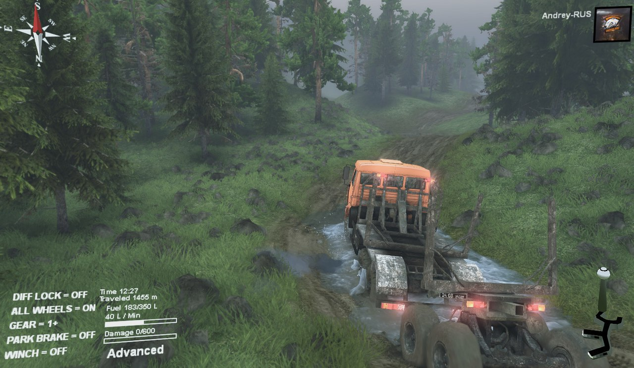 Карта-Muddy_road для 13.04.15 для Spintires - Скриншот 2