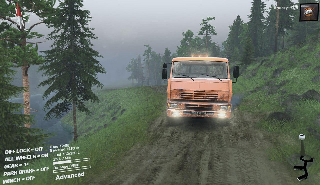 Карта-Muddy_road для 13.04.15 для Spintires - Скриншот 3