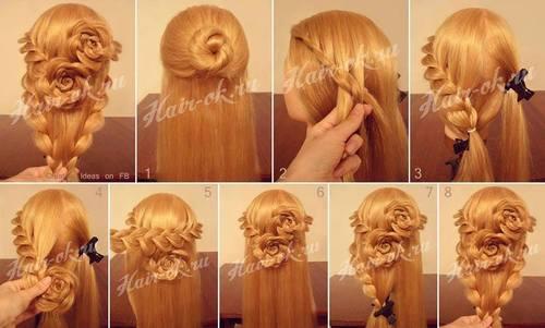 Видео уроки причёсок на длинные волосы своими руками