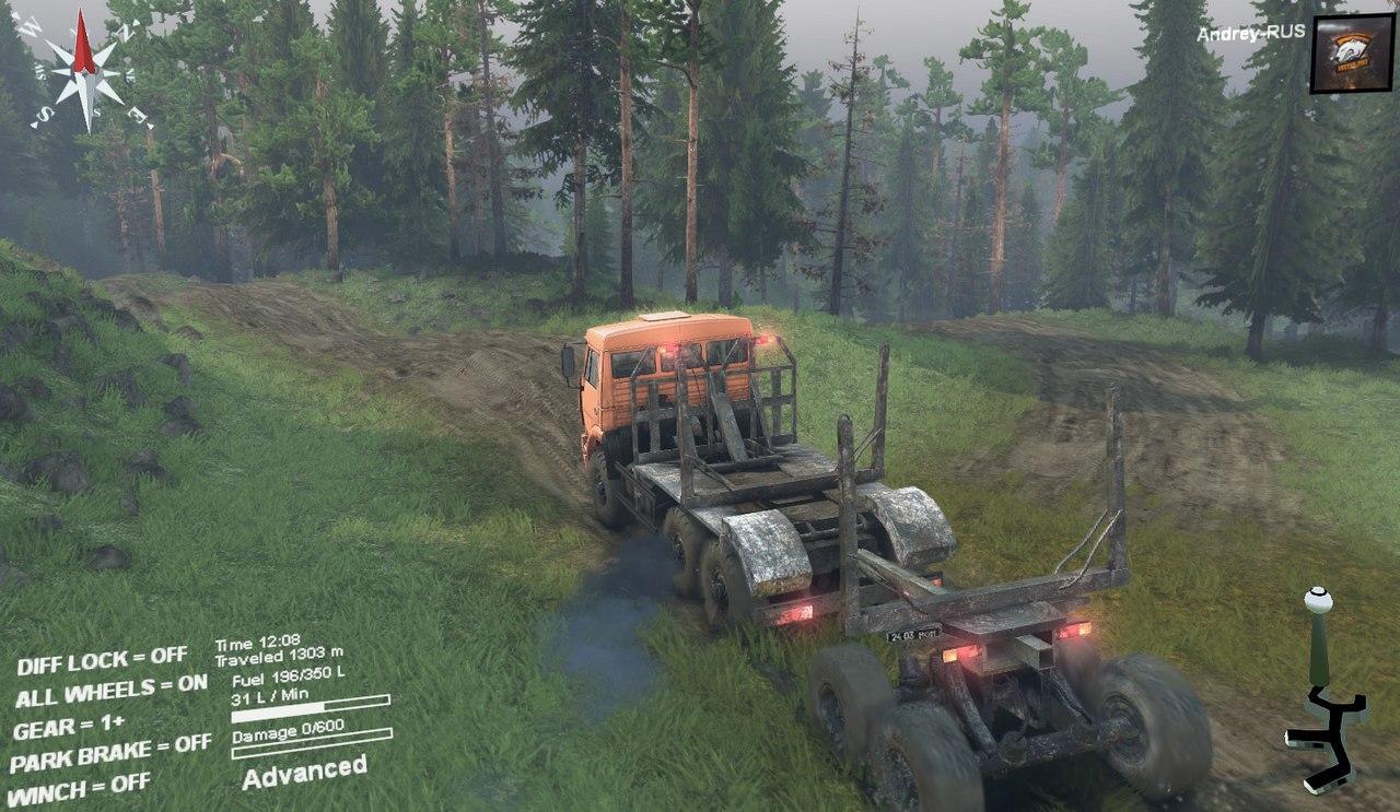 Карта-Muddy_road для 13.04.15 для Spintires - Скриншот 1