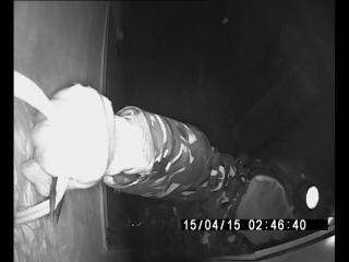15.04.2015 - В Новомосковске срезают камеры наружного наблюдения