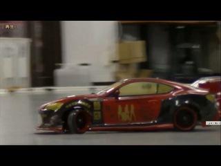 PLUSD サーキット Mさんの 2WD CER 86 ボディでの初追走 店長さんによるローアングル